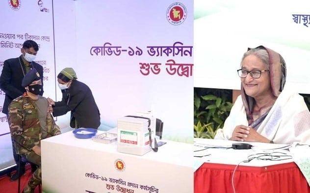 Sheikh Hasina thanks India for 2 million vaccine doses