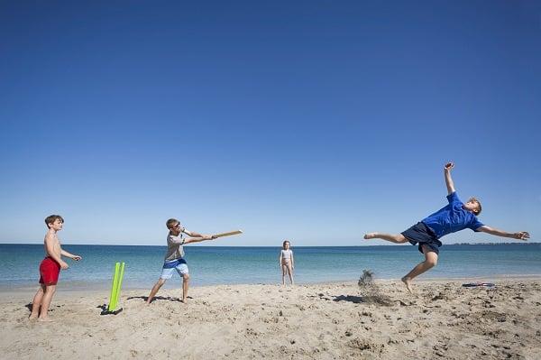 beach cricket, an australian family tradition