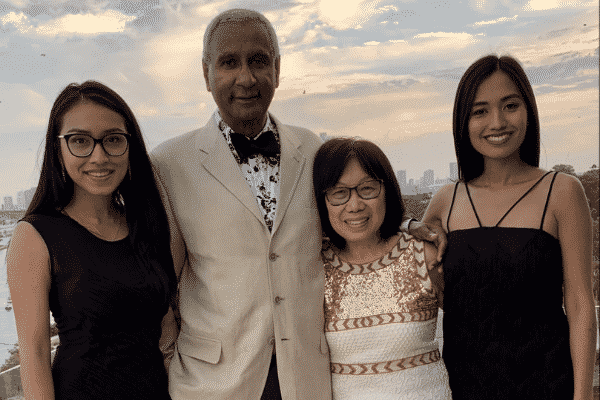 Dr anand naidoo OAM and family