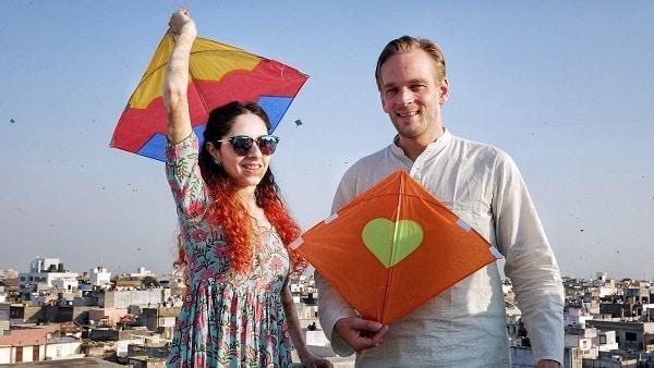 Karl rock and his wife, Manisha