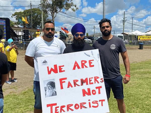 farmers not terrorists, farmers sydney protest blacktown sikh community