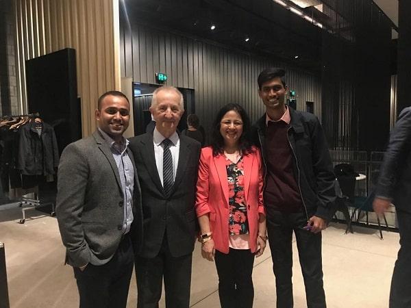 Robert with Dr Kiran Martin of asha india