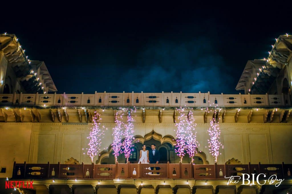 ami and nithin in the big day