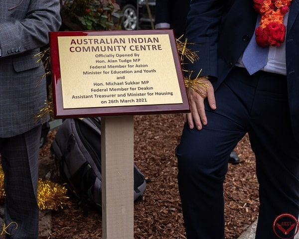 Australian Indian Community Centre plaque