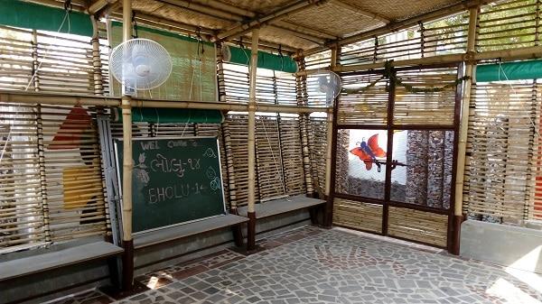 An interior look at a classroom in Bholu 14, Ahmedabad
