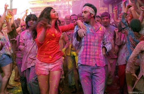 "A still from Yeh Jawaani Hai Deewani's ""Balam Pichkari"" music video. 2021 holi playlist"