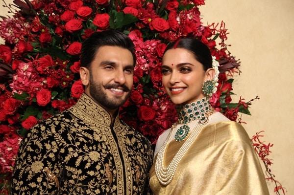 Deepika Padukone draped a cusom-made Advaya sari at her wedding reception in 2018.