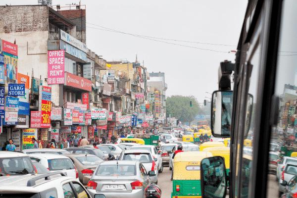 delhi pollution traffic