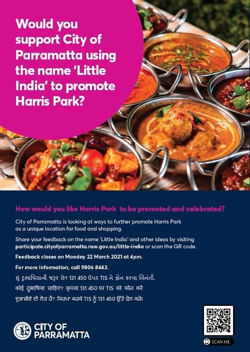 harris park parramatta city coucil little indian project]