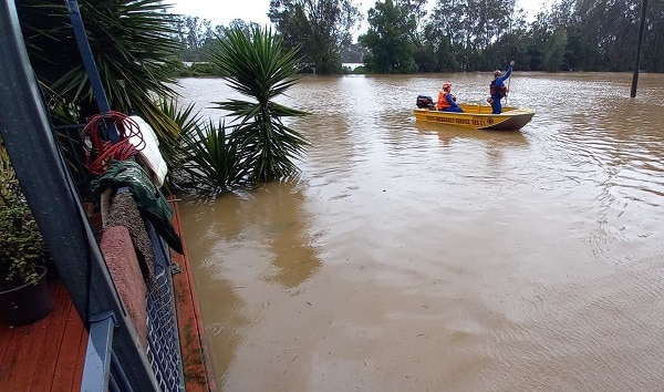 Port Macquarie deluged by heavy rains.