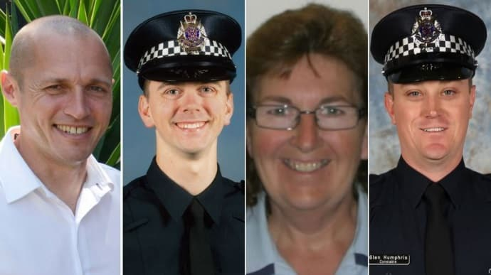 (From left to right) Senior Constable Kevin King, Constable Josh Prestney, Senior Constable Lynette Taylor and Constable Glen Humphris.