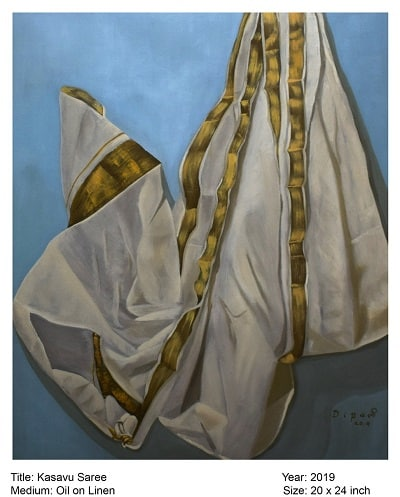 sari paintings by dipali deshpande