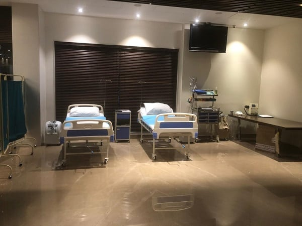 inside covid care centre