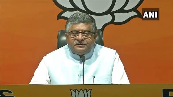 IT minister India Ravi Shankar