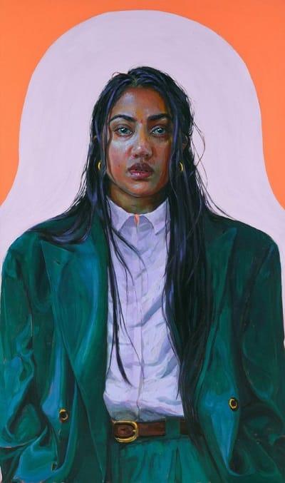 Kirthana selvaraj 'The green suit, a self portrait - Archibald image