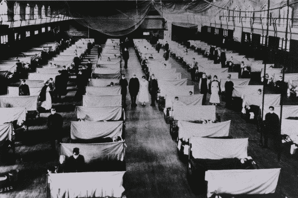 A quarantine facility for infected soldiers. pandemics - spanish flu