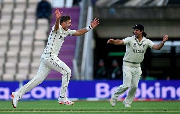 New Zealand team celebrating on field.