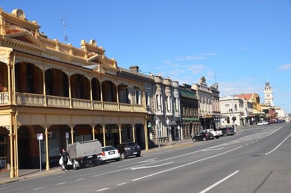 Ballarat Victorian streetscape