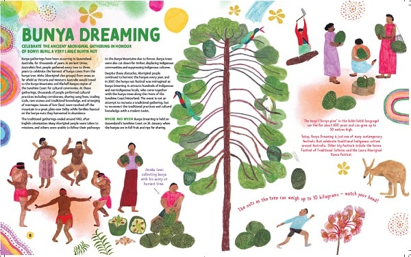 The Aboriginal festival of Bunya Dreaming depicted in the book