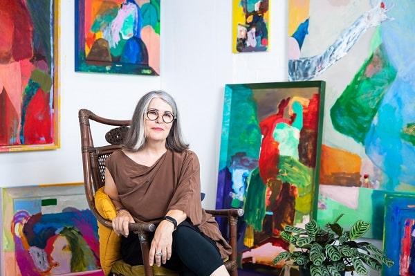 Karen Black in her Marickville studio.