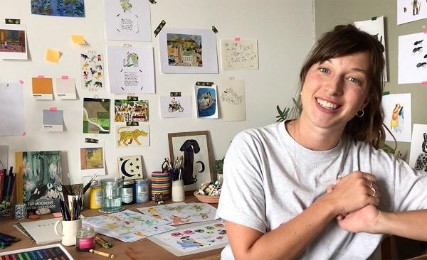 Illustrator Liz Rowland.
