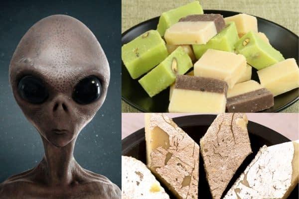 Auntyji-aliens and barfi