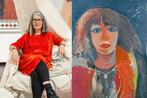 Artist Karen Black painted Professor Raina Macintyre's portrait for the Archibald Prize 2021