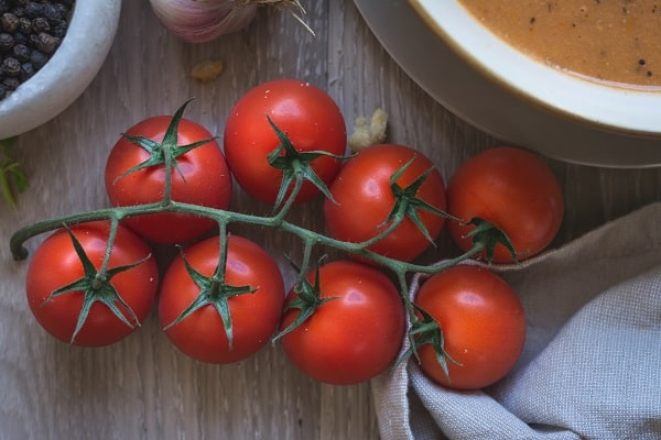 Fresh tomatoes for the soup.