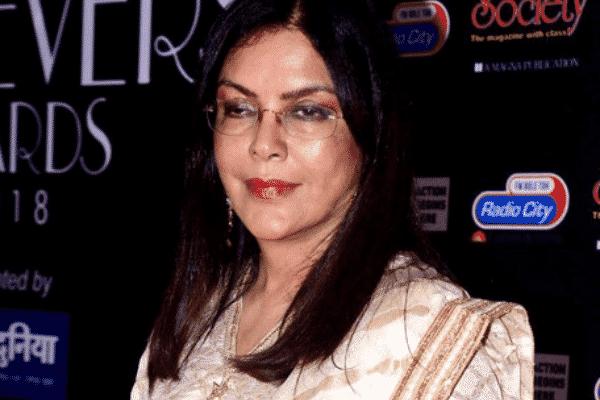 Actress Zeenat Aman