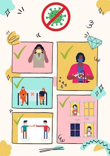 Covid prevention graphic