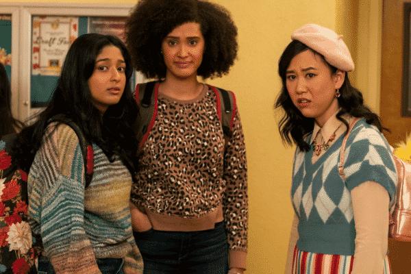 Friendship trio Devi (left), Fabiola (middle) and Eleanor (right)