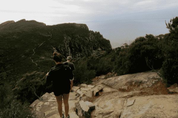 Hiking through Cape Hauy