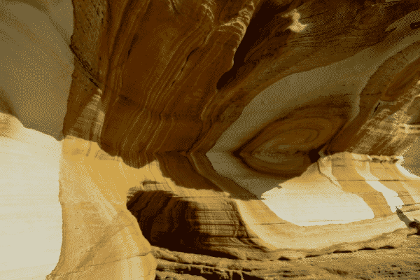 Weathered sandstone on the Painted Cliffs