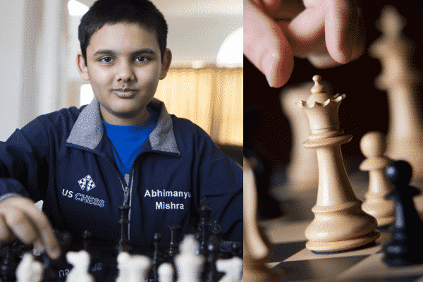Abhimanyu Mishra at a chess competition