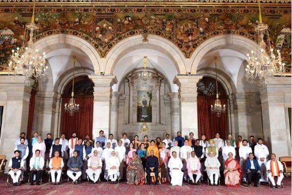 PM Narendra Modi's newly reshuffled Cabinet.