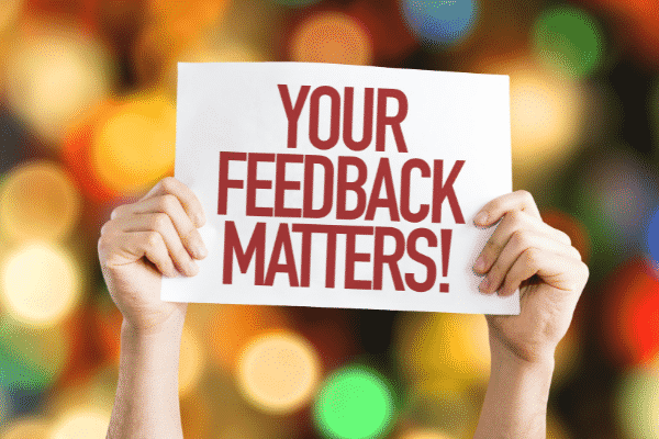 Effective feedback fosters a positive employer and employee relationship. Source: Canva