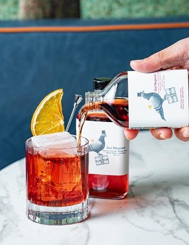 Bottled cocktail at Foreign Return