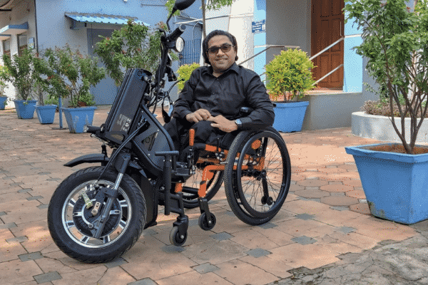 IIT-M's motorised wheelchair.