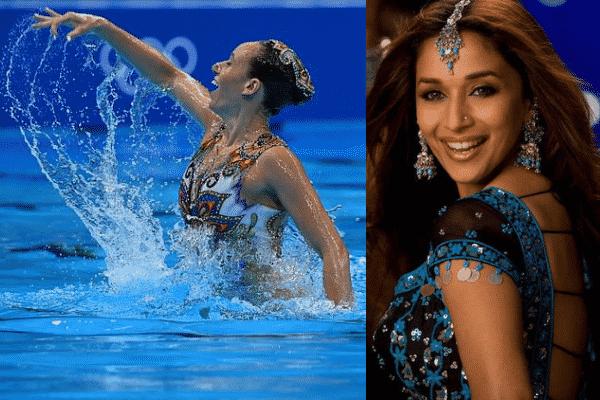 Madhuri Dixit's 'Aaja Nachle' swim performance by Israeli athletes