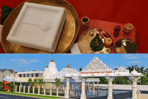 Melbourne's Shwetambar Jain Temple- first stone laying ceremony