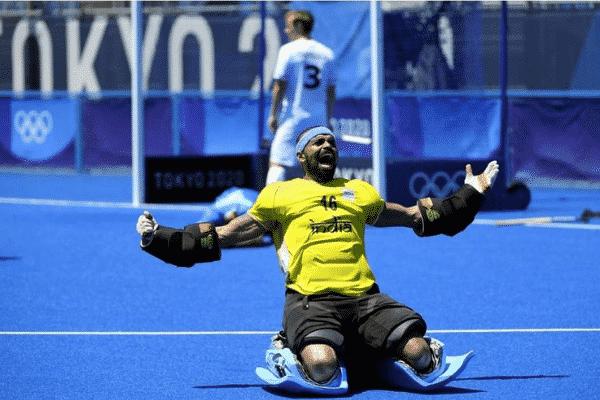 Indian men's hockey team goalie P R Sreejesh. Source: Twitter
