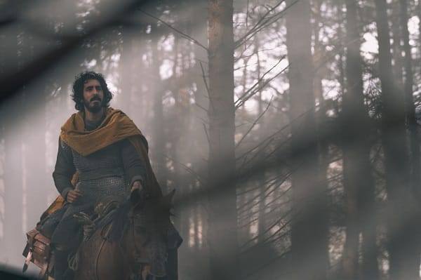 Dev Patel on horseback in The Green Knight