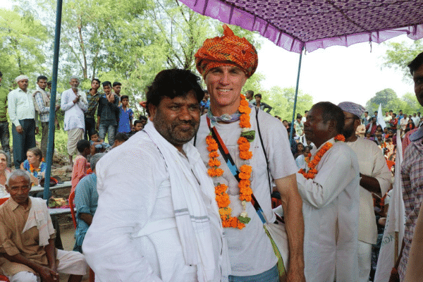Ben engaged with community members along the Tribal village belt.