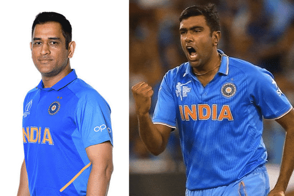 M.S Dhoni and R Ashwin now part of Team India's T20 WC. Source: Twitter