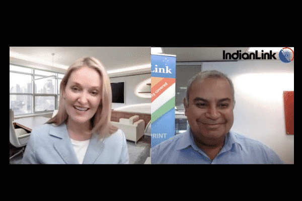 NSW Minister for Multiculturalism Natalie Ward in conversation with Pawan Luthra.