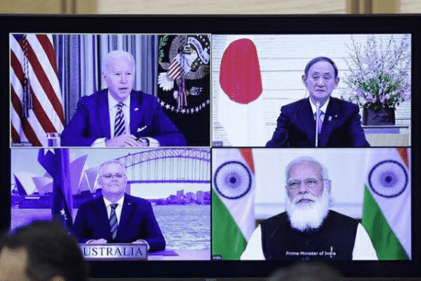 Quad virtual leaders' meeting in March 2021. Source: Twitter
