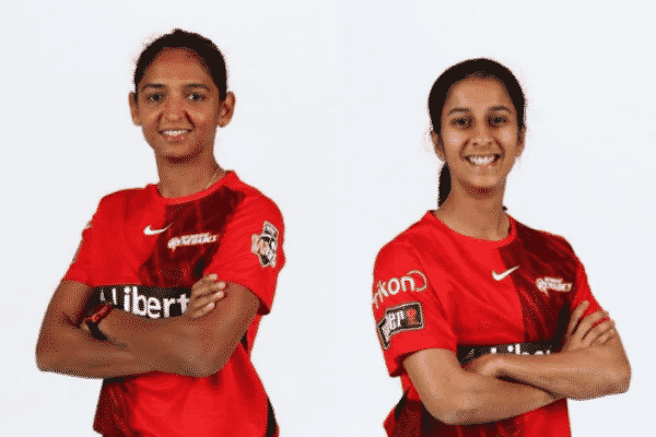 Harmanpreet Kaur and Jemimah Rodrigues ready to represent Melbourne Renegades for the upcoming season. Source: Twitter