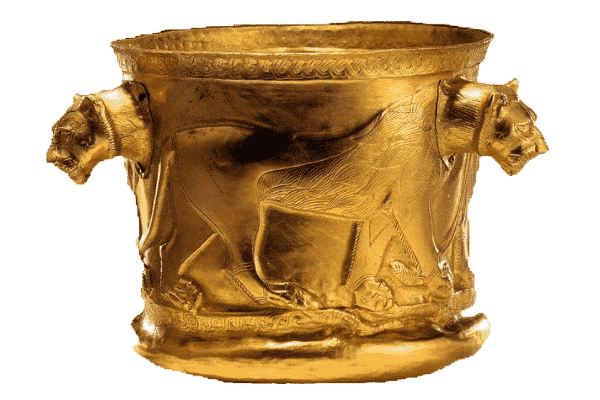 Kelar Dasht Golden Cup, late 2nd millennium BC, National Museum of Iran. Source: Wikimedia Commons.
